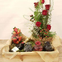 Caja fruta  del bosque