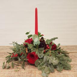 Centro navidad rojo