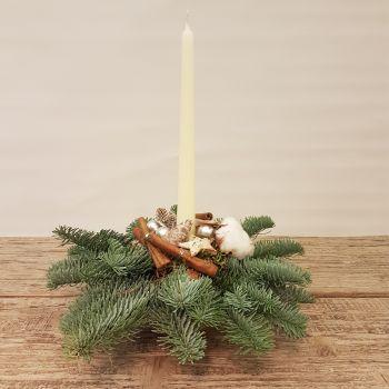 Centro navidad crema